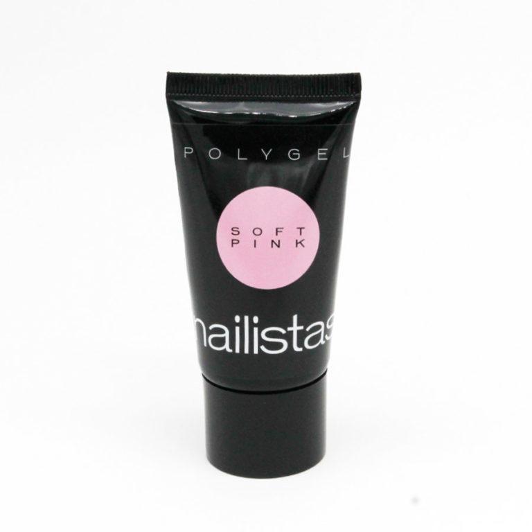 polygel nailistas rosa crema claro